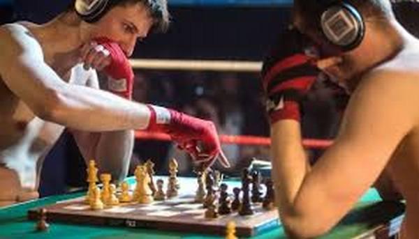 Le chessboxing, sport hybride inventé par l'artiste Enki Bilal. Chessb10