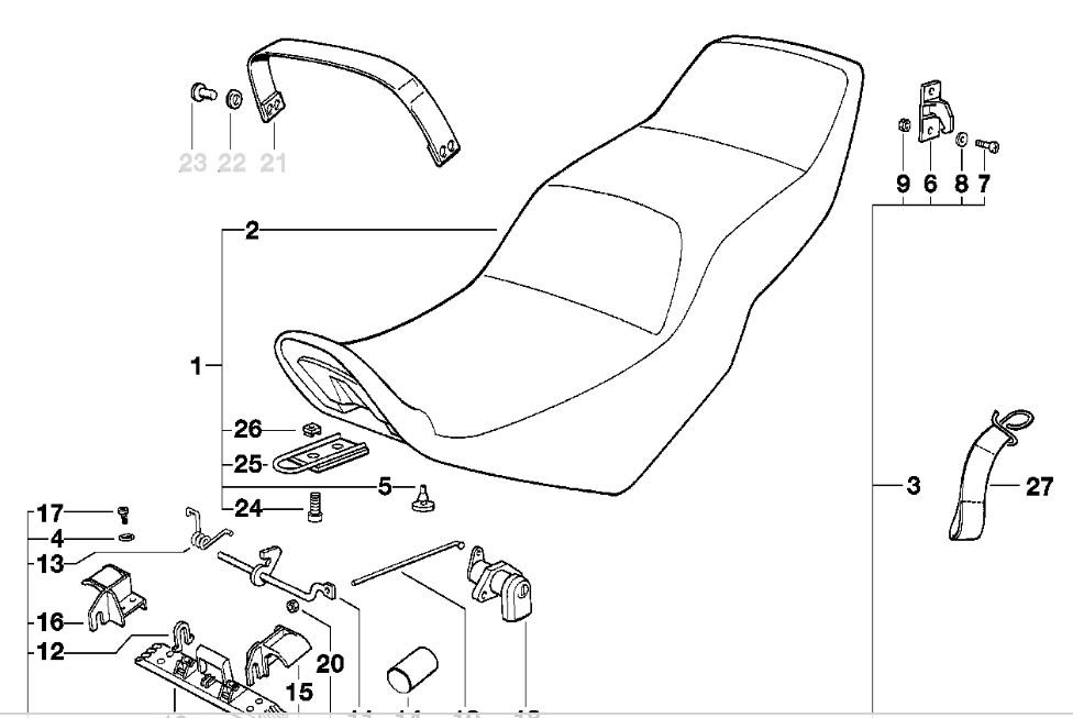 Seat for 94 K75S K75_se10
