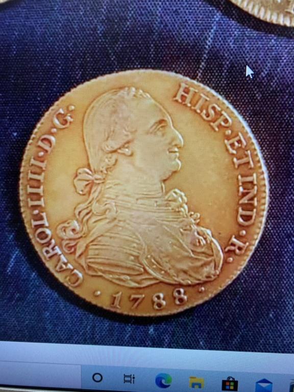 8 escudos de Carlos IIII de oro 178812