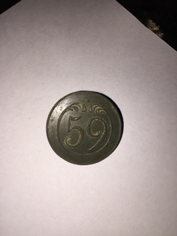 Botón Regimiento de Infantería de Línea Nº 59, francés (1808-1813). F210de10