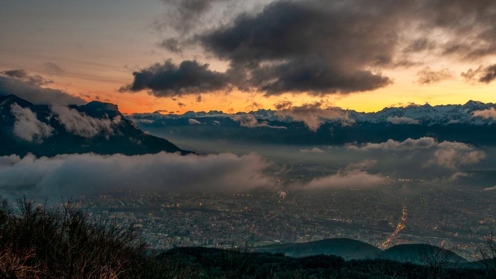 [Paysages] Lever de soleil sur Grenoble Sans_t28