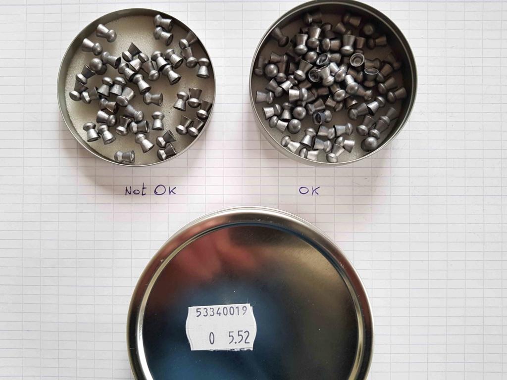 JSB .22 Jumbo Heavy 18.13 grains - 30% des jupes abîmées !!! 20191010