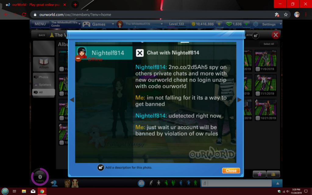 player violating terms of service Screen10