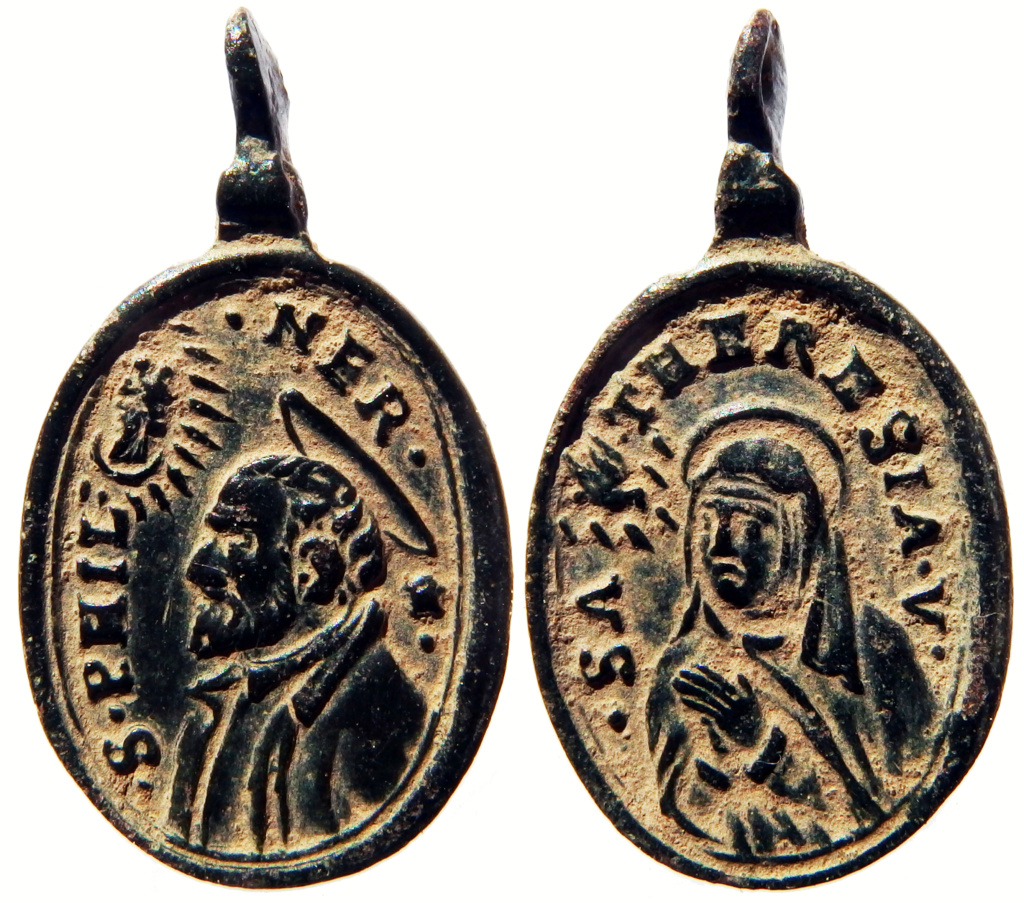 teresa - San Felipe Neri / Santa Teresa de Jesús - S. XVII (R.M. SXVII-O539) 1_85-210
