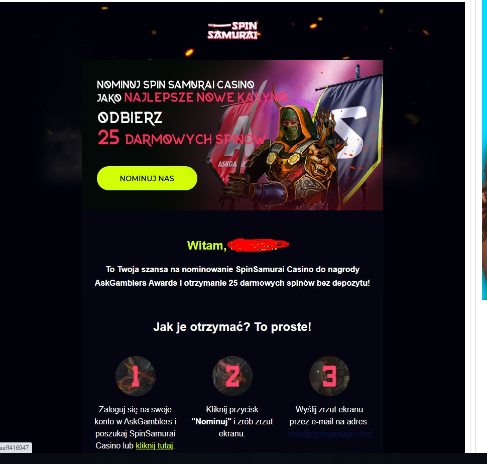 Spin Samurai kasyno online 20 darmowych spinów bez depozytu (exclusive) Screen23