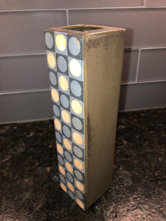 Geometric Motif Vase - Silkscreened? Img_3045