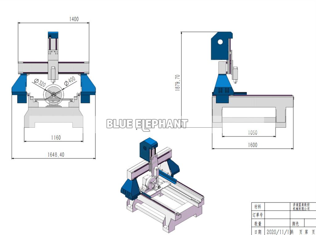 Projet CNC 9090 Rotary Blue Elephant Drawin10