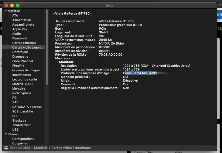 Nivdia GT730 Mojave hackintosh Captur12
