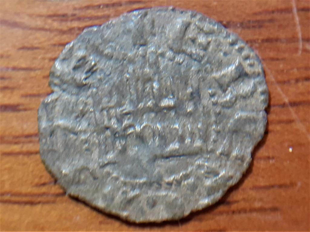 Dinero de guerra Enrique II. Sevilla. (Variante leyenda reverso). 20210550