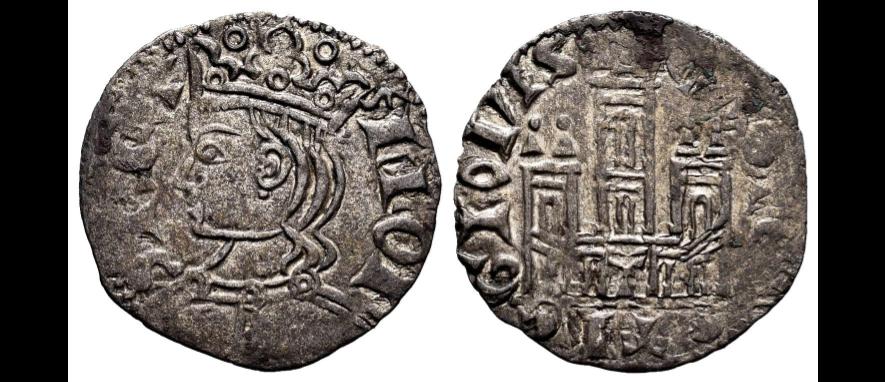 Dinero coronado o cornado de Alfonso XI. Toledo Alfons10