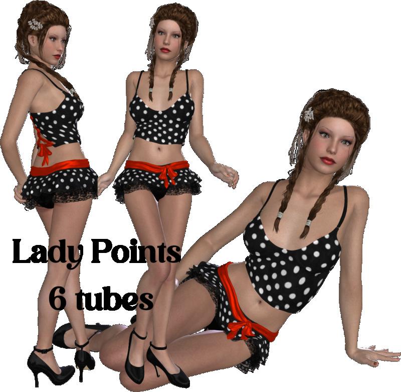 Tubes en 3D - Lady Points 024