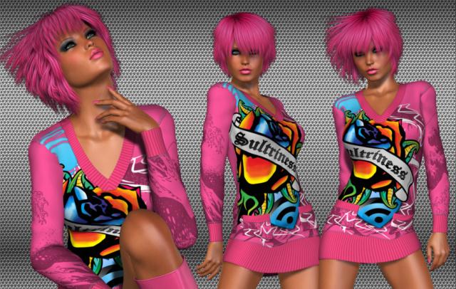 Tubes in 3D - Ziri Pink (pretty) 079