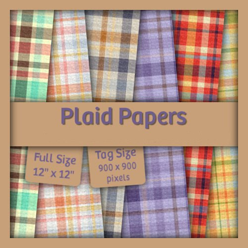 +。★。+ Backgrounds - Plaid Papers - Tagsize +。★。+ 111