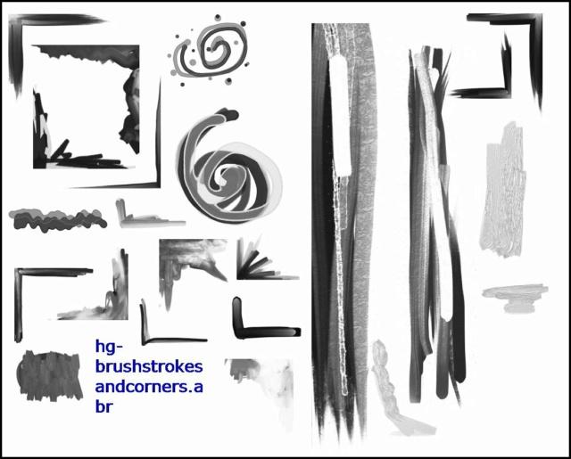 *☆*Brush Strokes And Corners *☆* Brush_10