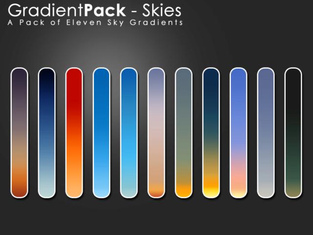 Gradient Pack - Skies D3aut610
