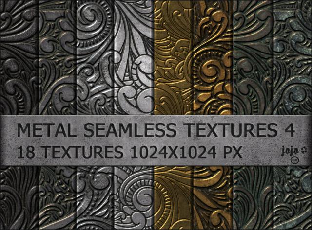 Metal seamless textures pack 4 D9831y10