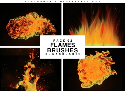 fire flames photoshop brushes Fire-f10