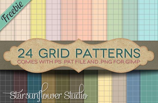 24 Grid Patters (freebie) Free_s10