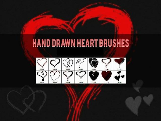 *☆*Hand Drawn Heart Brushes*☆*  Timthu19