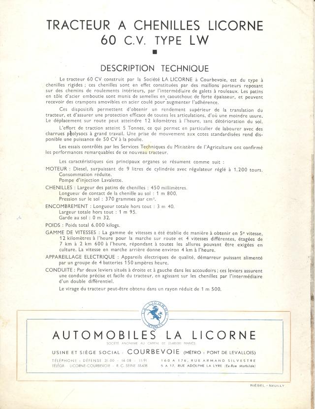 publicités du tracteur LICORNE Licorn12