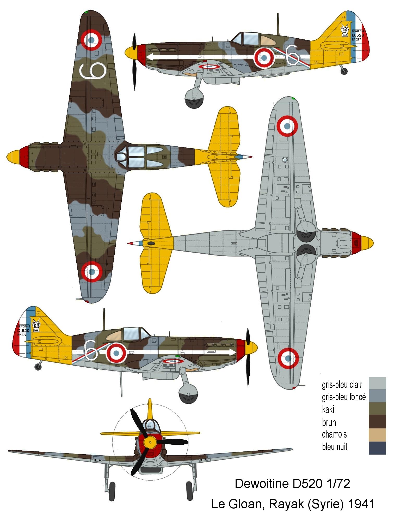 Montage: Dewoitine D520 Vichy en Syrie D520_c18