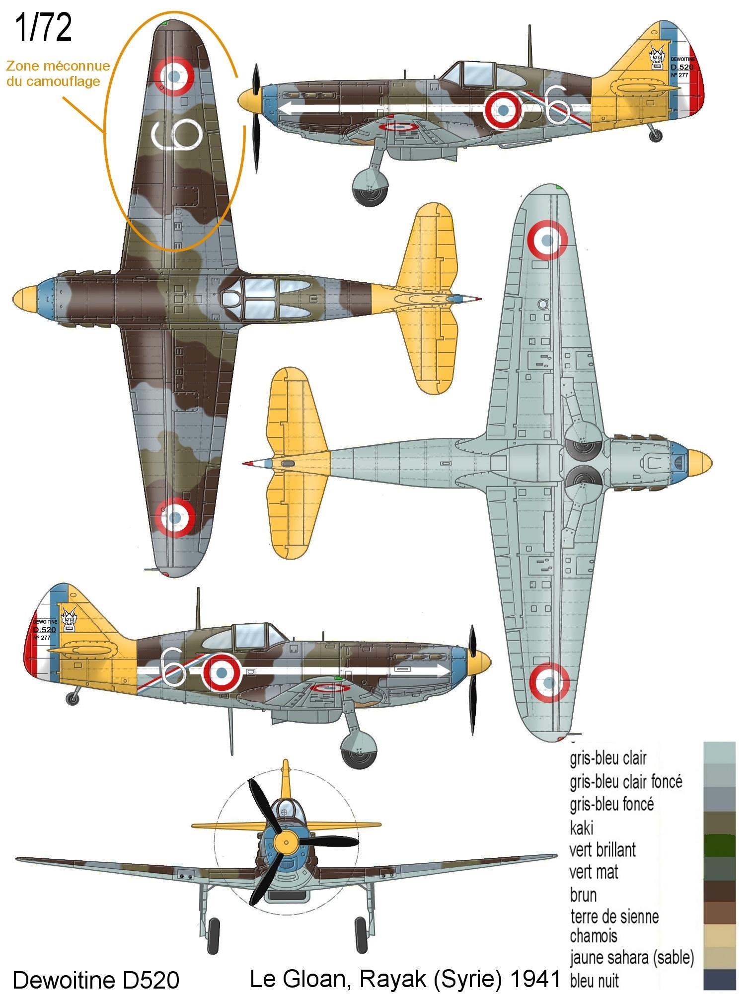 Montage: Dewoitine D520 Vichy en Syrie  D520_c24