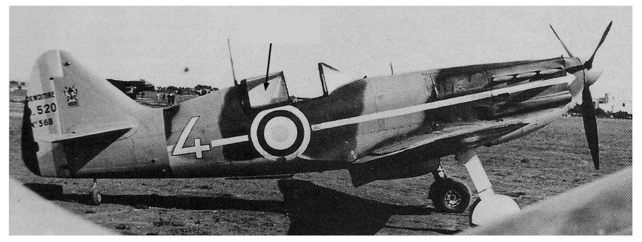 Montage: Dewoitine D520 Vichy en Syrie  D520_d11