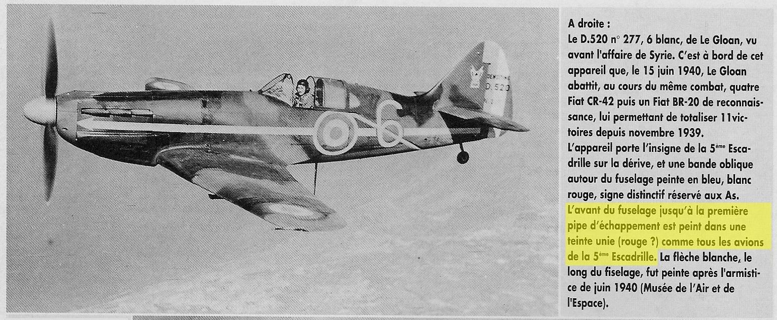 Montage: Dewoitine D520 Vichy en Syrie  D520_p20