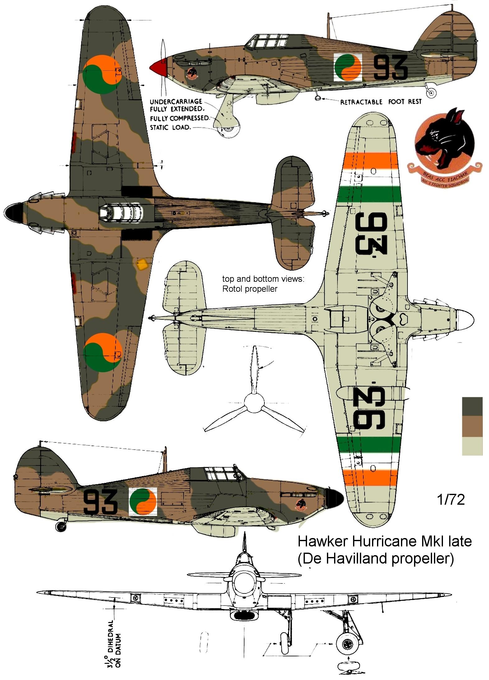 Montage: Hurricane MkI irlandais Hurric12