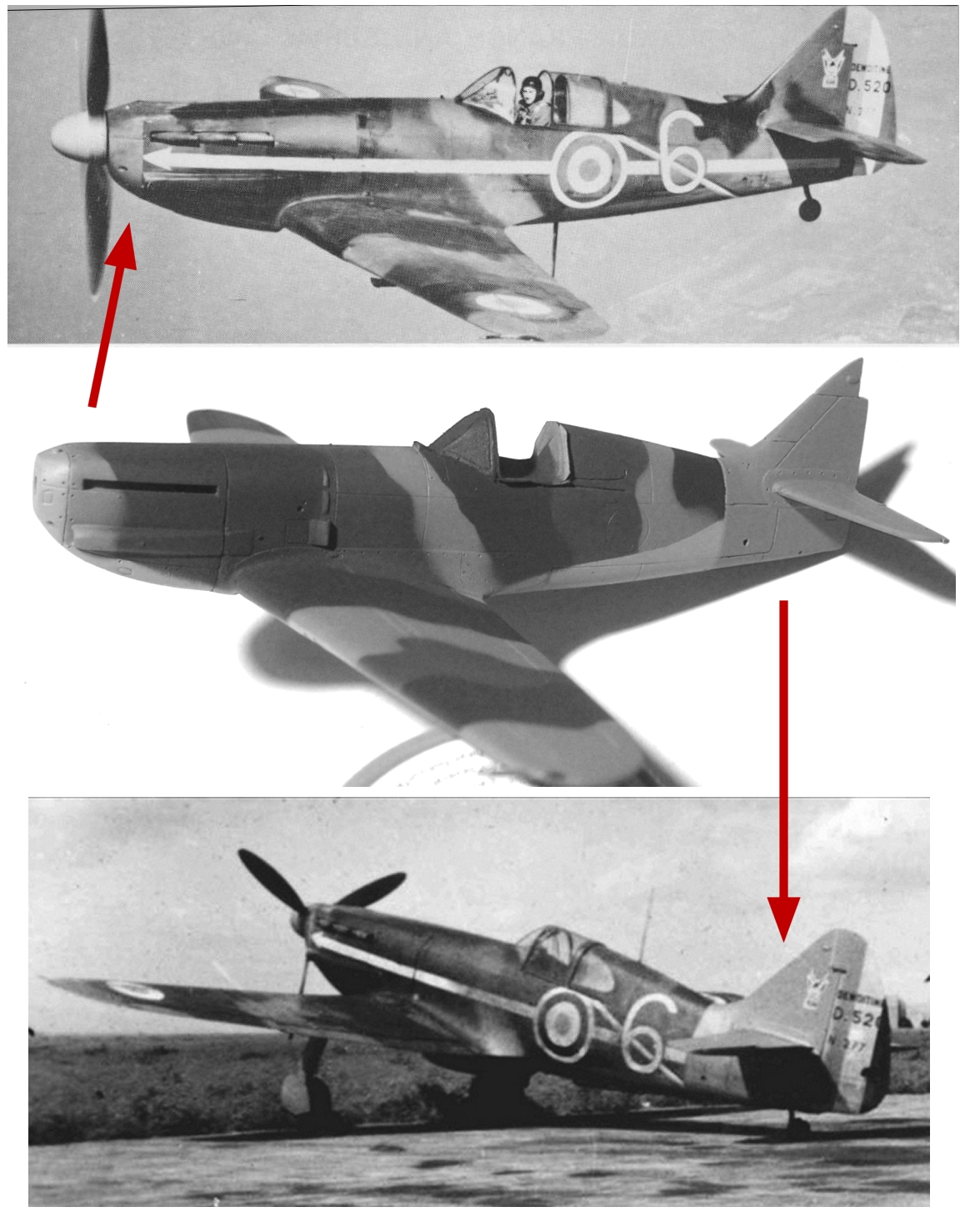 Montage: Dewoitine D520 Vichy en Syrie  - Page 4 Monta235