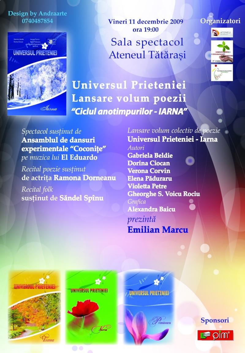 11 decembrie 2009-lansarea ultimului volum din Ciclul Anotimpurilor-Universul Prieteniei-Iarna Afis_l10