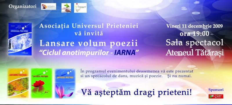 11 decembrie 2009-lansarea ultimului volum din Ciclul Anotimpurilor-Universul Prieteniei-Iarna Invita10