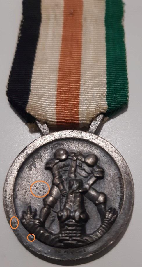 Identification medaille Afrikakorps germano italienne  20201210