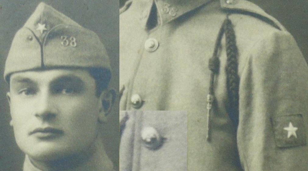 38° insigne de manche et de bonnet de police à identifier svp P1130320