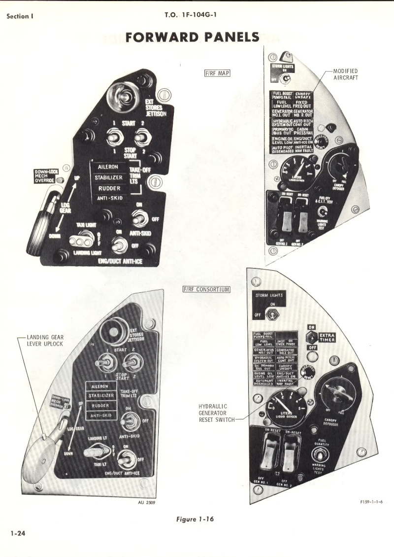F-104G Cockpit, 1:12 Italeri 104gd10