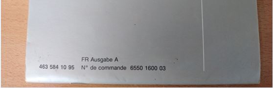 vends Carnet de maintenance G(Vierge)  VENDU Captur40