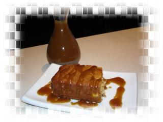 Gâteau moelleux aux fruits et sauce vanille et caramel Dsc03918