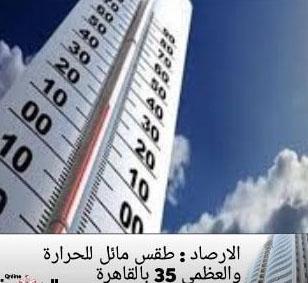 الارصاد الجوية  : طقس مائل للحرارة والعظمى 35 بالقاهرة 10609010