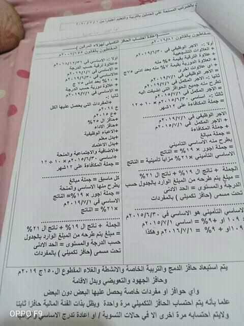 تعديل الحد الأدنى وتغيير صحف الأحوال لترقيات 2013 بتاريخ 1/1/2019 10653910