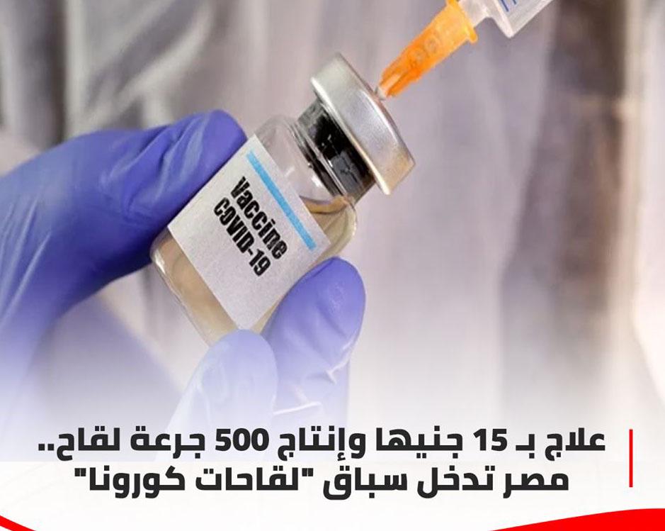 """مصر تدخل سباق """"لقاحات كورونا""""علاج بـ 15 جنيها وإنتاج 500 جرعة لقاح 11740510"""