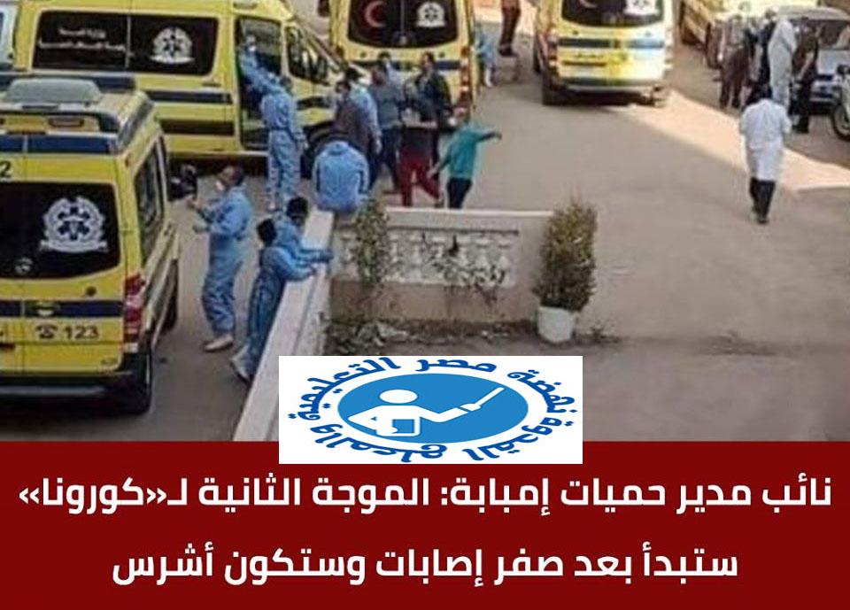 """دكتور ماهر الجارحى - نائب مدير حميات إمبابة: الموجة الثانية لـ""""كورونا"""" ستبدأ بعد صفر إصابات وستكون أشرس 11780110"""