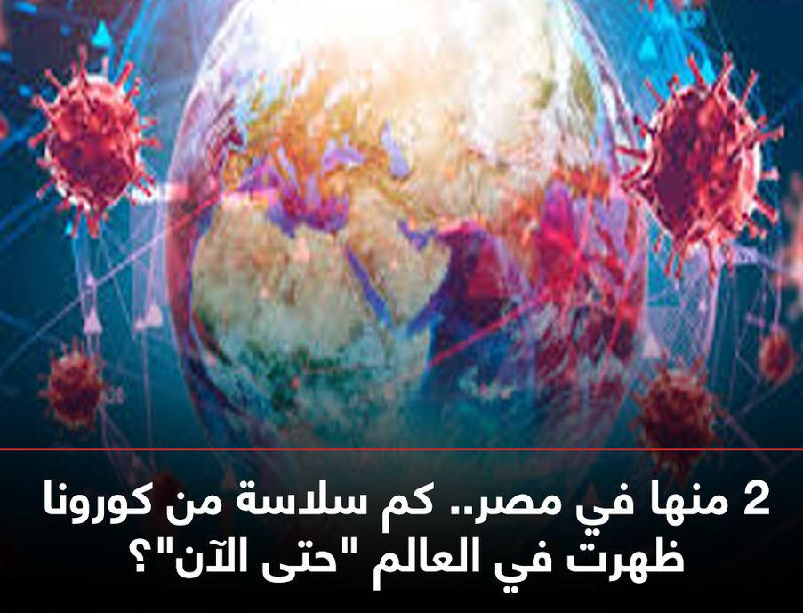 """معلومات تهمك للفترة القادمة 2 منها في مصر.. كم سلاسة من كورونا ظهرت في العالم """"حتى الآن""""؟ 11873910"""