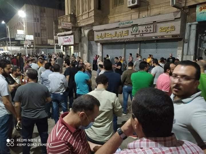 """طنطا - تجمع المعلمين للإفراج عن زميلهم المحبوس """" بسبب الدروس """" 11883510"""