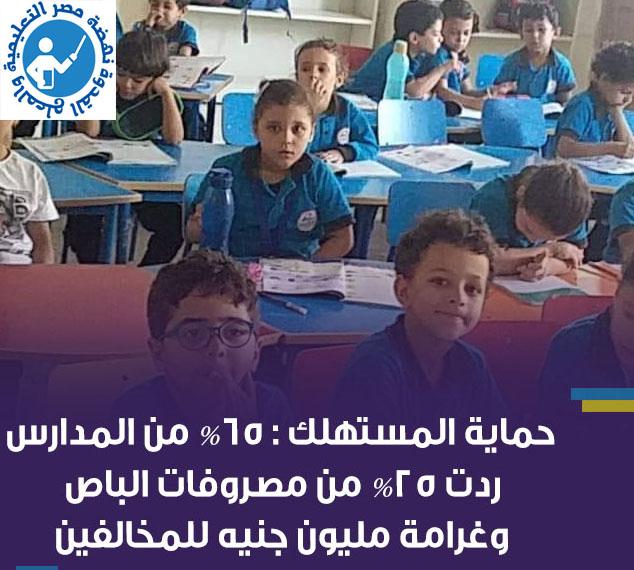 بالأمر  حماية المستهلك: 65% من المدارس ردت 25% من مصروفات الباص.. وغرامة مليون جنيه للمخالفين 11972410