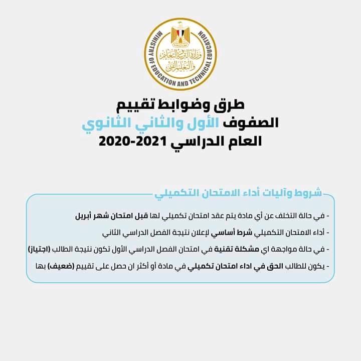 ملخص قرارات وزير التربية و التعليم الخاصة بإمتحانات فرق الثانوى العام  و فى انتظار قرارات مرتقبة لباقى المراحل 16887010