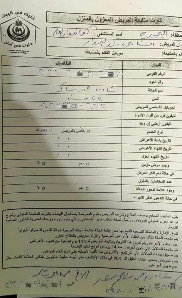 تفاصيل جديدة تخص إصابة ووفاة ماما سناء بكورونا ابنها   ترك المستشفى وطلب العزل المنزلي 17342010