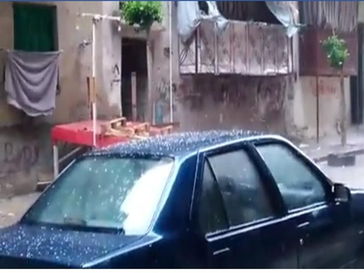 الإسكندرية الآن بالفيديو السماء تمطر ثلجًا  2019_111