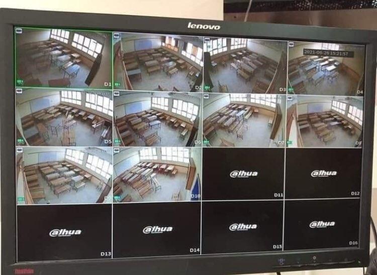 تم تجهيز معظم لجان الثانوية بنظام كاميرات عالي الأداء لمكافحة الغش و الغشاشين و العقوبه مشددة 20764410