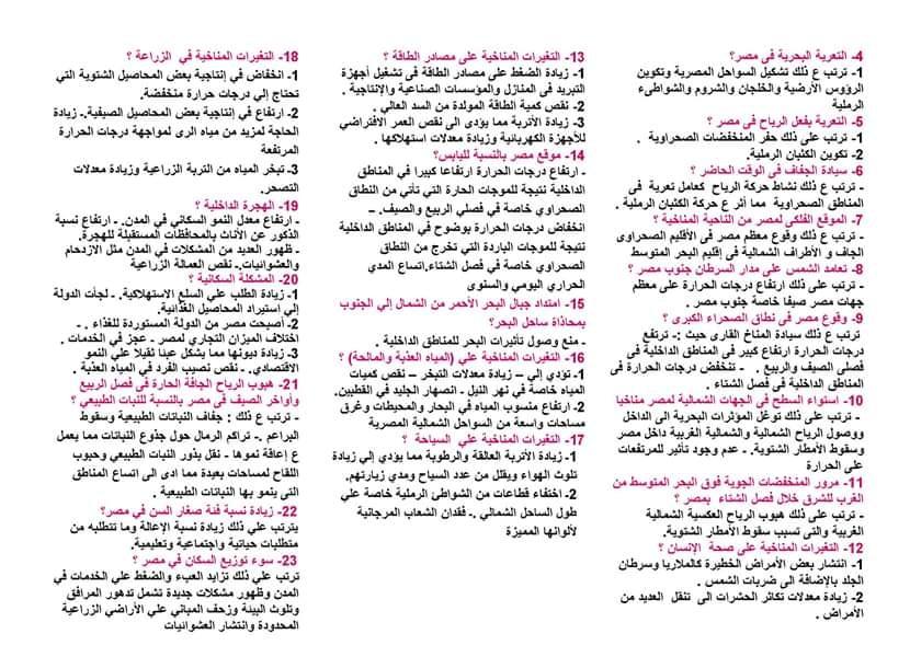 مراجعة مستر إسلام الخداد جغرافيا للأول الثانوى خمس ورقات 50286210