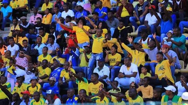 قبل المباراة - جماهير صن داونز تعترض حافلة الأهلي قبل الدخول إلى ستاد لوكاس موريبي 545_we11